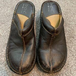 B.O.C. Leather slide ons